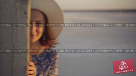 Купить «happy smiling girl enjoying sun, dancing and laughs, flirts with you», видеоролик № 29407083, снято 3 ноября 2018 г. (c) Ирина Мойсеева / Фотобанк Лори