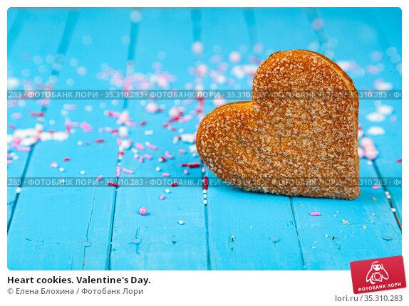 Heart cookies. Valentine's Day. Стоковое фото, фотограф Елена Блохина / Фотобанк Лори