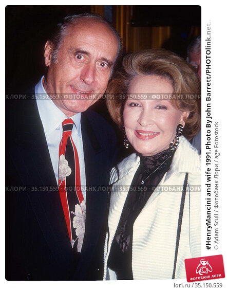 #HenryMancini and wife 1991.Photo By John Barrett/PHOTOlink.net.. Редакционное фото, фотограф Adam Scull / age Fotostock / Фотобанк Лори