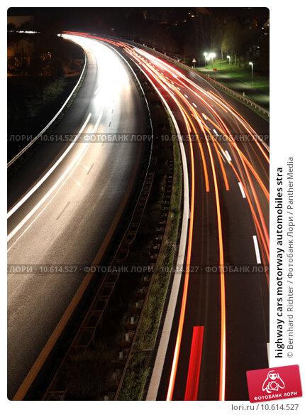 highway cars motorway automobiles stra. Стоковое фото, фотограф Bernhard Richter / PantherMedia / Фотобанк Лори