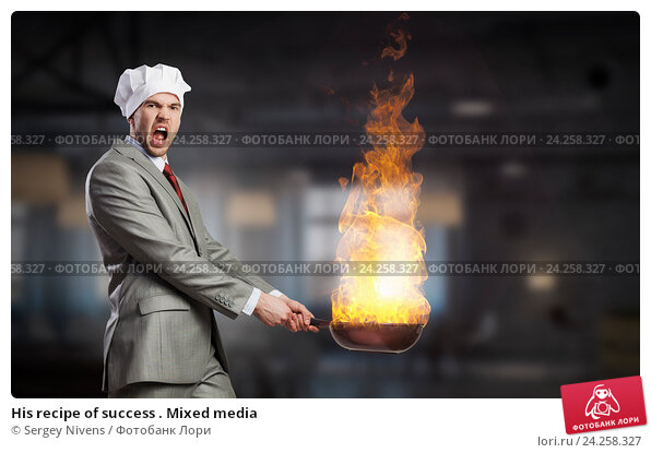Купить «His recipe of success . Mixed media», фото № 24258327, снято 25 апреля 2019 г. (c) Sergey Nivens / Фотобанк Лори