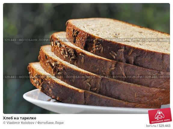 Хлеб на тарелке, фото № 329443, снято 3 мая 2008 г. (c) Vladimir Kolobov / Фотобанк Лори