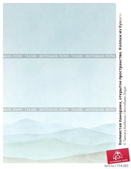 Холмистая панорама, открытое пространство. Коллаж из бумаги., иллюстрация № 114583 (c) Tamara Kulikova / Фотобанк Лори