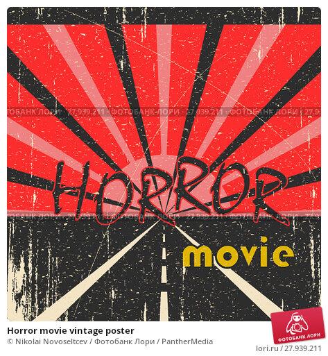 Купить «Horror movie vintage poster», фото № 27939211, снято 21 августа 2018 г. (c) PantherMedia / Фотобанк Лори