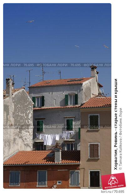 Купить «Хорватия, Ровинь - старые стены и крыши», фото № 70695, снято 6 апреля 2007 г. (c) Tamara Kulikova / Фотобанк Лори