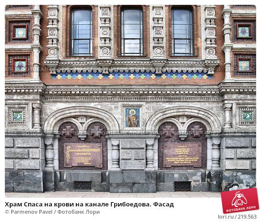 Храм Спаса на крови на канале Грибоедова. Фасад, фото № 219563, снято 14 февраля 2008 г. (c) Parmenov Pavel / Фотобанк Лори
