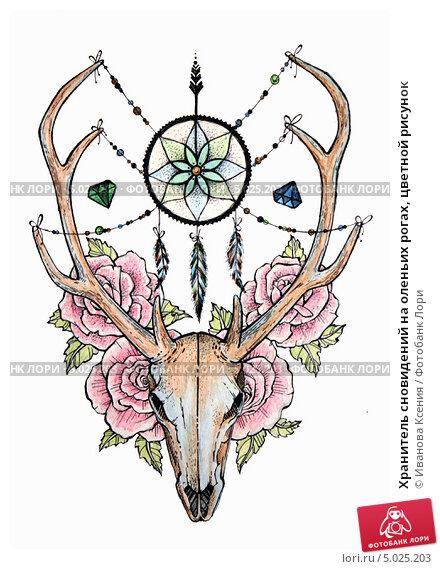 Значение татуировок: Олень Татуировка