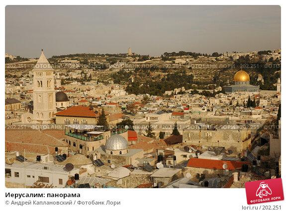 Иерусалим: панорама, фото № 202251, снято 1 января 2008 г. (c) Андрей Каплановский / Фотобанк Лори