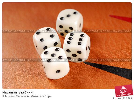 Игральные кубики, фото № 220883, снято 5 февраля 2008 г. (c) Михаил Малышев / Фотобанк Лори