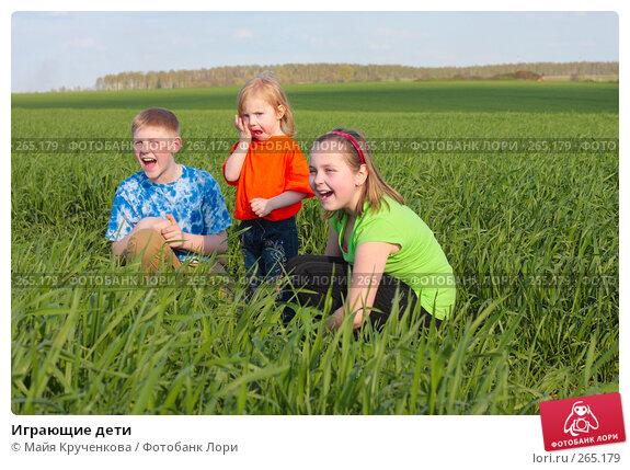 Играющие дети, фото № 265179, снято 26 апреля 2008 г. (c) Майя Крученкова / Фотобанк Лори