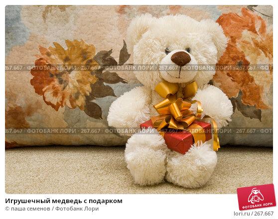 Игрушечный медведь с подарком, фото № 267667, снято 25 марта 2008 г. (c) паша семенов / Фотобанк Лори