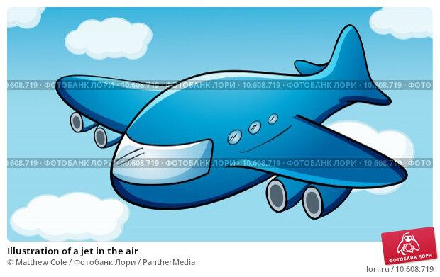 Illustration of a jet in the air. Стоковая иллюстрация, иллюстратор Matthew Cole / PantherMedia / Фотобанк Лори