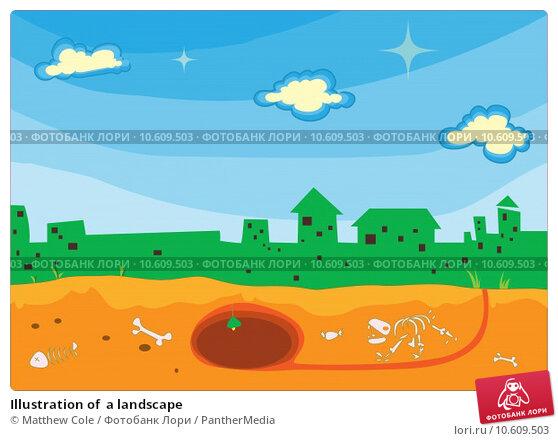 Illustration of  a landscape. Стоковая иллюстрация, иллюстратор Matthew Cole / PantherMedia / Фотобанк Лори
