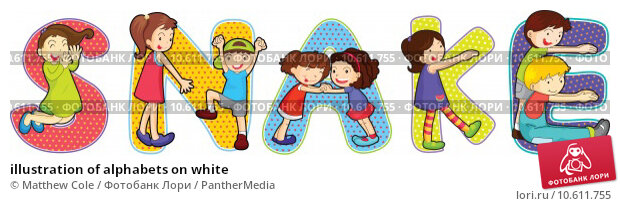 illustration of alphabets on white. Стоковая иллюстрация, иллюстратор Matthew Cole / PantherMedia / Фотобанк Лори