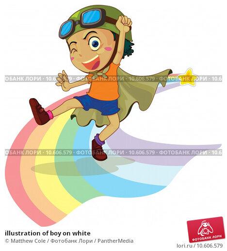 illustration of boy on white. Стоковая иллюстрация, иллюстратор Matthew Cole / PantherMedia / Фотобанк Лори