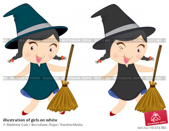 illustration of girls on white. Стоковая иллюстрация, иллюстратор Matthew Cole / PantherMedia / Фотобанк Лори