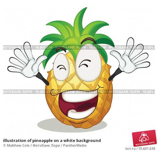 illustration of pineapple on a white background. Стоковая иллюстрация, иллюстратор Matthew Cole / PantherMedia / Фотобанк Лори