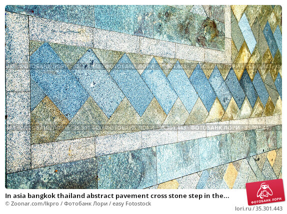 In asia bangkok thailand abstract pavement cross stone step in the... Стоковое фото, фотограф Zoonar.com/lkpro / easy Fotostock / Фотобанк Лори