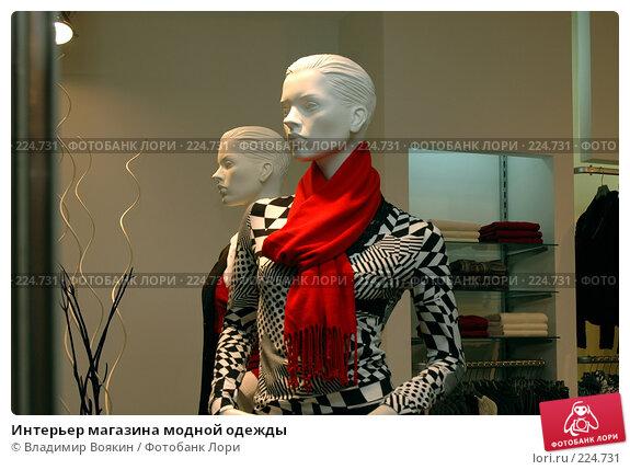 Купить «Интерьер магазина модной одежды», фото № 224731, снято 16 января 2006 г. (c) Владимир Воякин / Фотобанк Лори