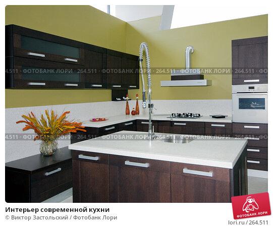 Интерьер современной кухни, фото № 264511, снято 25 апреля 2008 г. (c) Виктор Застольский / Фотобанк Лори