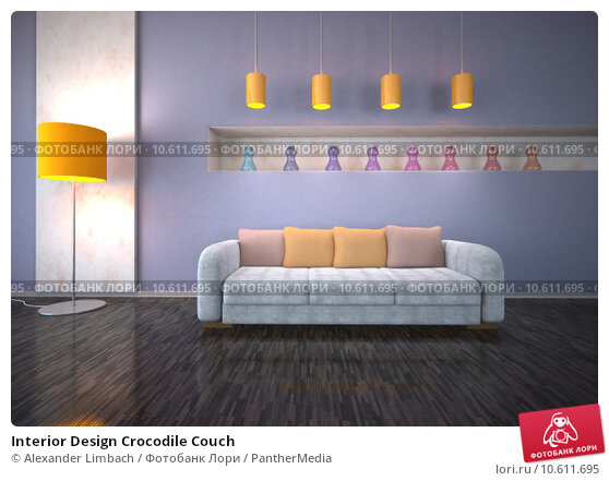 Interior Design Crocodile Couch. Стоковое фото, фотограф Alexander Limbach / PantherMedia / Фотобанк Лори