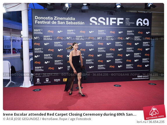 Irene Escolar attended Red Carpet Closing Ceremony during 69th San... Редакционное фото, фотограф ©JOSE GEGUNDEZ / age Fotostock / Фотобанк Лори