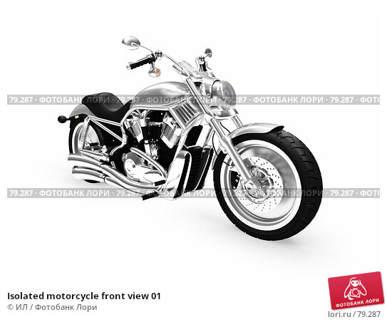 Isolated motorcycle front view 01, иллюстрация № 79287 (c) ИЛ / Фотобанк Лори