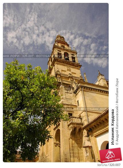 Испания: Кордова, фото № 320007, снято 3 мая 2008 г. (c) Андрей Каплановский / Фотобанк Лори