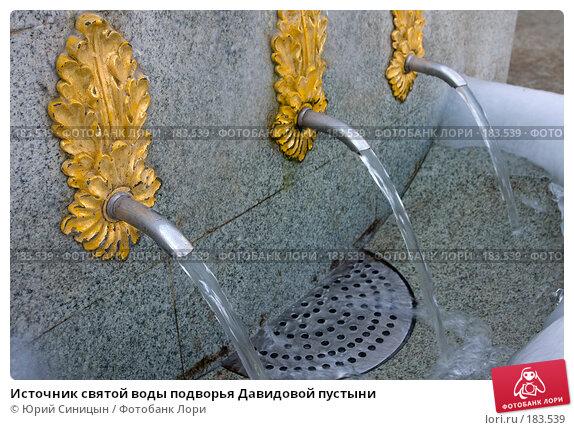 Купить «Источник святой воды подворья Давидовой пустыни», фото № 183539, снято 8 января 2008 г. (c) Юрий Синицын / Фотобанк Лори