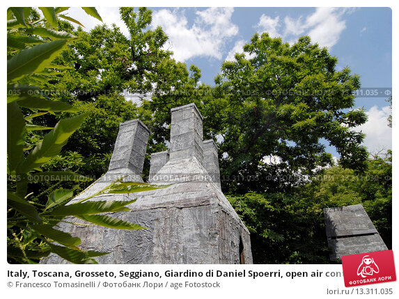 Italy toscana grosseto seggiano giardino di daniel spoerri open air contemporary art museum - Giardino di daniel spoerri ...