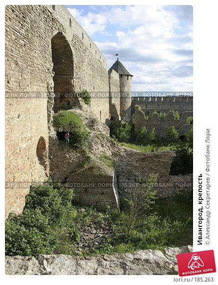 Купить «Ивангород, крепость», фото № 185263, снято 29 июня 2006 г. (c) Александр Секретарев / Фотобанк Лори