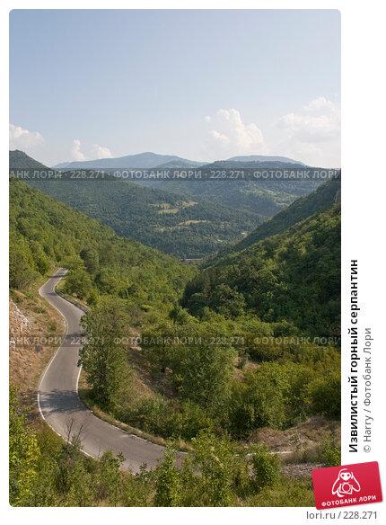 Извилистый горный серпантин, фото № 228271, снято 19 августа 2007 г. (c) Harry / Фотобанк Лори