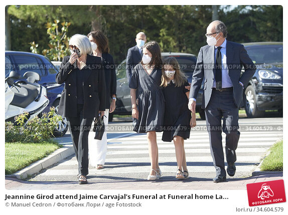 Jeannine Girod attend Jaime Carvajal's Funeral at Funeral home La... Редакционное фото, фотограф Manuel Cedron / age Fotostock / Фотобанк Лори