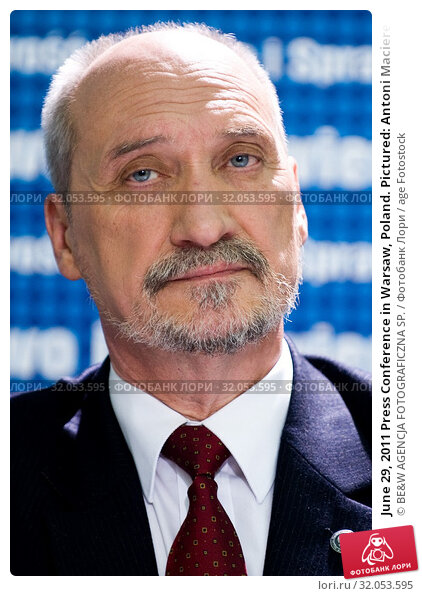 June 29, 2011 Press Conference in Warsaw, Poland. Pictured: Antoni Macierewicz. Редакционное фото, фотограф BE&W AGENCJA FOTOGRAFICZNA SP. / age Fotostock / Фотобанк Лори