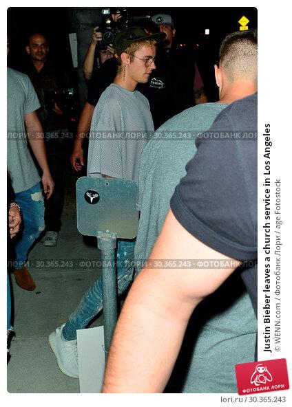 Купить «Justin Bieber leaves a church service in Los Angeles Featuring: Justin Bieber Where: Beverly Hills, California, United States When: 23 Aug 2017 Credit: WENN.com», фото № 30365243, снято 23 августа 2017 г. (c) age Fotostock / Фотобанк Лори