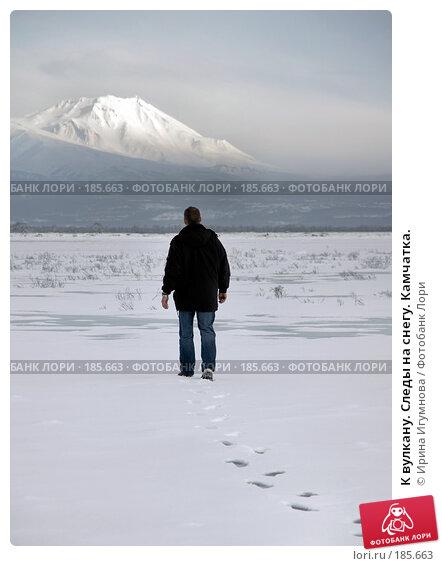 К вулкану. Следы на снегу. Камчатка., фото № 185663, снято 2 января 2008 г. (c) Ирина Игумнова / Фотобанк Лори