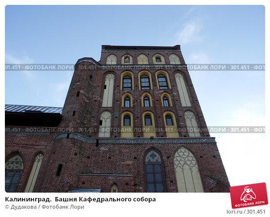 Калининград.  Башня Кафедрального собора, фото № 301451, снято 25 января 2007 г. (c) Дудакова / Фотобанк Лори