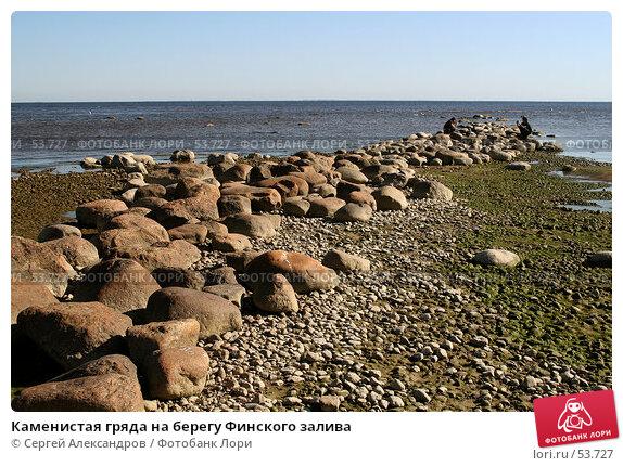 Каменистая гряда на берегу Финского залива, фото № 53727, снято 2 июня 2007 г. (c) Сергей Александров / Фотобанк Лори