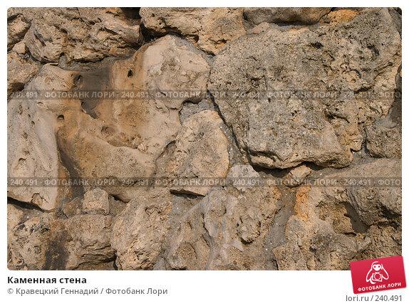 Купить «Каменная стена», фото № 240491, снято 22 апреля 2018 г. (c) Кравецкий Геннадий / Фотобанк Лори