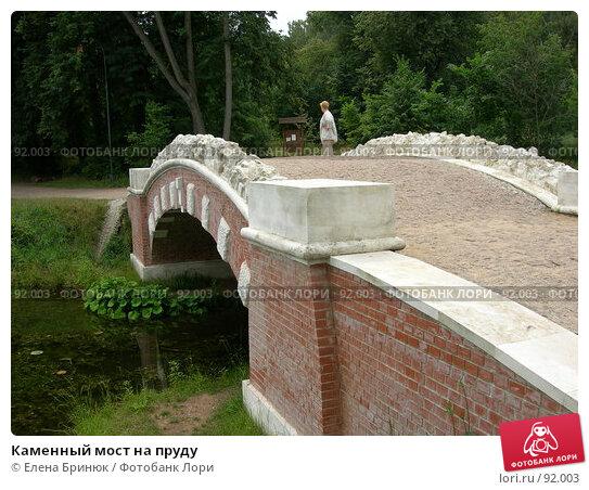 Купить «Каменный мост на пруду», фото № 92003, снято 28 июля 2007 г. (c) Елена Бринюк / Фотобанк Лори