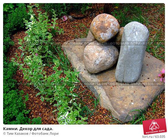 Камни. Декор для сада., фото № 63035, снято 17 июля 2007 г. (c) Тим Казаков / Фотобанк Лори