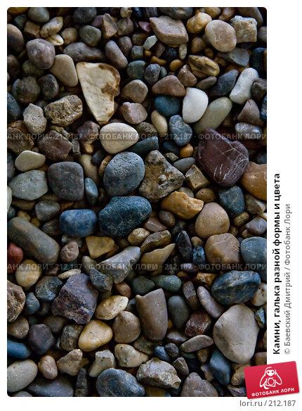 Купить «Камни, галька разной формы и цвета», фото № 212187, снято 24 марта 2018 г. (c) Баевский Дмитрий / Фотобанк Лори