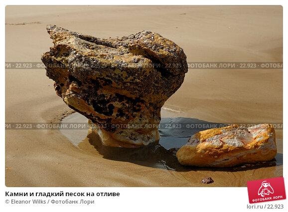 Камни и гладкий песок на отливе, фото № 22923, снято 6 апреля 2007 г. (c) Eleanor Wilks / Фотобанк Лори