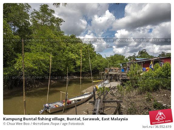 Kampung Buntal fishing village, Buntal, Sarawak, East Malaysia. Стоковое фото, фотограф Chua Wee Boo / age Fotostock / Фотобанк Лори