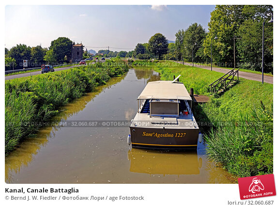 Kanal, Canale Battaglia. Стоковое фото, фотограф Bernd J. W. Fiedler / age Fotostock / Фотобанк Лори