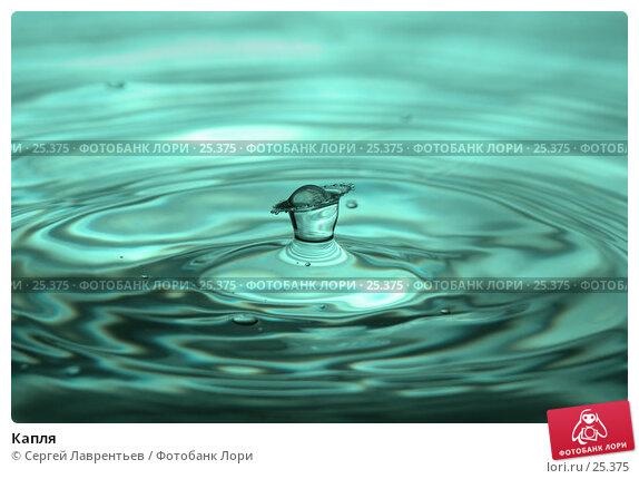 Капля, фото № 25375, снято 24 ноября 2006 г. (c) Сергей Лаврентьев / Фотобанк Лори