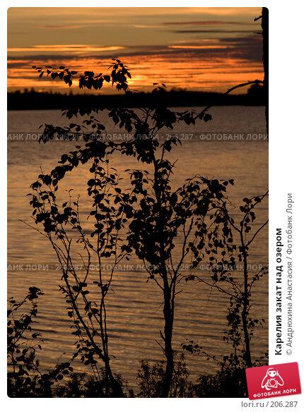 Карелия закат над озером, фото № 206287, снято 14 сентября 2007 г. (c) Андрюхина Анастасия / Фотобанк Лори