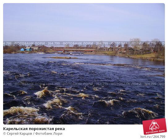 Карельская порожистая река, фото № 264799, снято 6 мая 2006 г. (c) Сергей Карцов / Фотобанк Лори