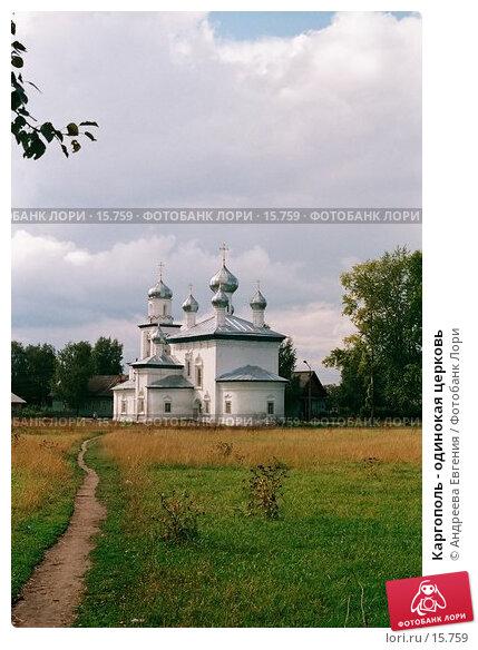 Каргополь - одинокая церковь, фото № 15759, снято 24 января 2017 г. (c) Андреева Евгения / Фотобанк Лори