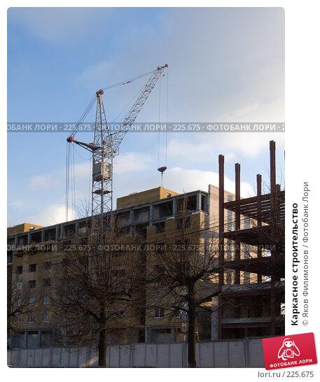 Купить «Каркасное строительство», фото № 225675, снято 17 марта 2008 г. (c) Яков Филимонов / Фотобанк Лори